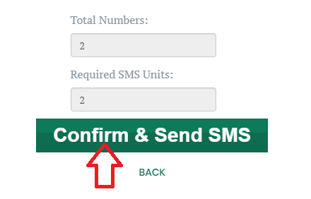 Confirm and Send SMS